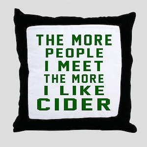 I Like Cider Throw Pillow