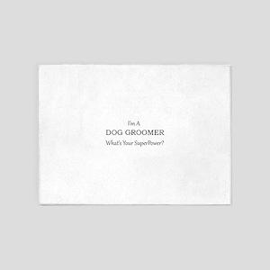 Dog Groomer 5'x7'Area Rug