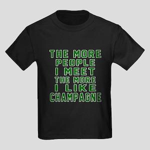 I Like Champagne Kids Dark T-Shirt
