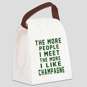 I Like Champagne Canvas Lunch Bag