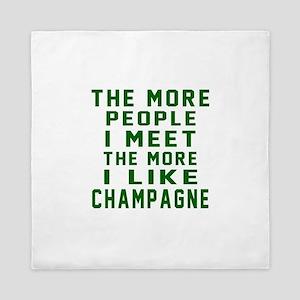 I Like Champagne Queen Duvet