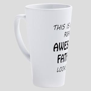 Awesome Father 17 oz Latte Mug