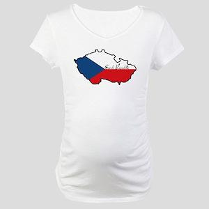 Cool Czech Republic Maternity T-Shirt