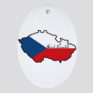 Cool Czech Republic Oval Ornament