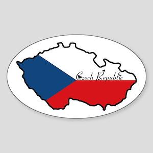Cool Czech Republic Oval Sticker