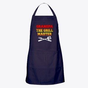 Grandpa The Grill Master Apron (dark)