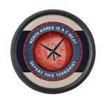 North Korea Is A Threat Large Wall Clock