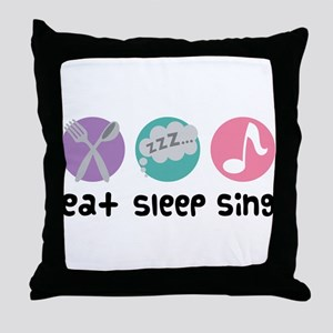 Choir Eat Sleep Sing Music Throw Pillow