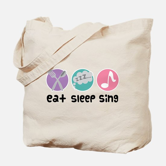Choir Eat Sleep Sing Music Tote Bag