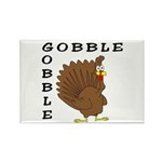 Gobble Gobble Turkey Rectangle Magnet (10 pack)