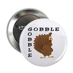Gobble Gobble Turkey Button