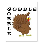 Gobble Gobble Turkey Small Poster