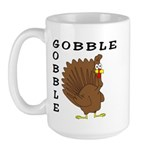 Gobble Gobble Turkey Large Mug