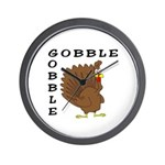 Gobble Gobble Turkey Wall Clock