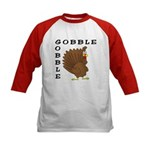 Gobble Gobble Turkey Kids Baseball Jersey
