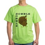 Gobble Gobble Turkey Green T-Shirt