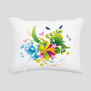 Summer Flower Power Rectangular Canvas Pillow