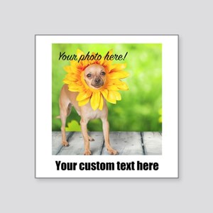 Custom Photo And Text Sticker