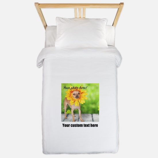 Custom Photo And Text Twin Duvet