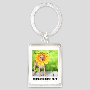 Custom Photo And Text Keychains