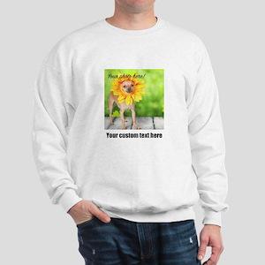 Custom Photo And Text Sweatshirt
