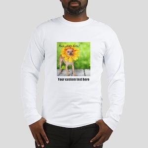 Custom Photo And Text Long Sleeve T-Shirt
