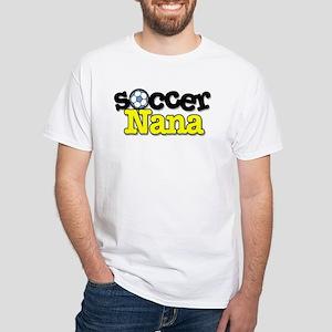 Soccer Nana White T-Shirt