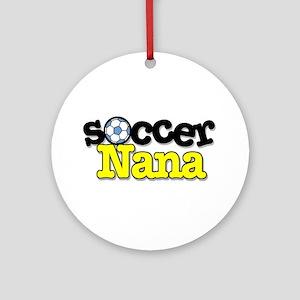 Soccer Nana Ornament (Round)