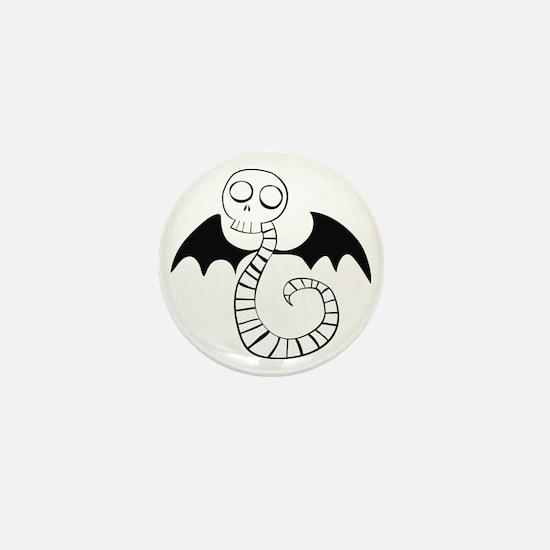 Skeleton Snake Mini Button