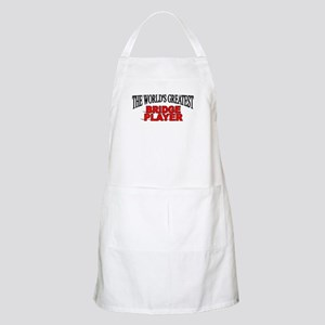 """The World's Greatest Bridge Player"" BBQ Apron"
