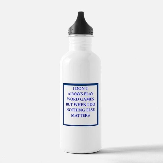 word games joke Water Bottle