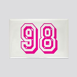 98 Pink Birthday Rectangle Magnet