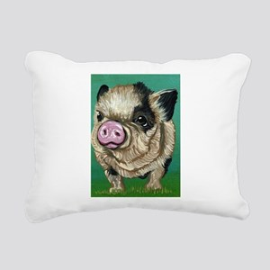 Micro Pig Rectangular Canvas Pillow