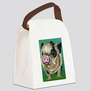 Micro Pig Canvas Lunch Bag