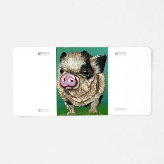 Micro Pig Aluminum License Plate