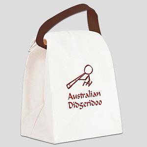 Red Didgeridoo Canvas Lunch Bag
