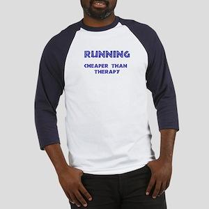 Running: Cheaper than therapy Baseball Jersey