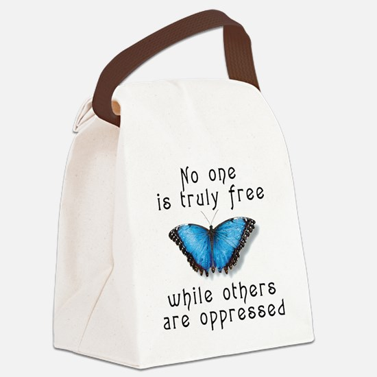 noonefree.png Canvas Lunch Bag