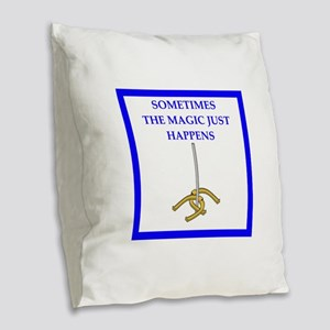 horseshoes joke Burlap Throw Pillow