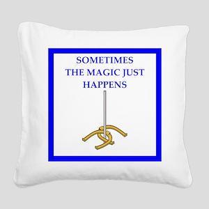 horseshoes joke Square Canvas Pillow