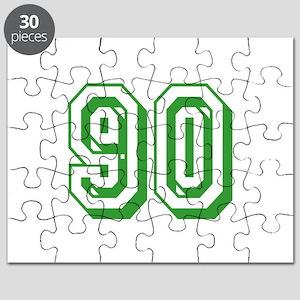 90 Green Birthday Puzzle