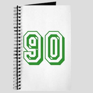 90 Green Birthday Journal