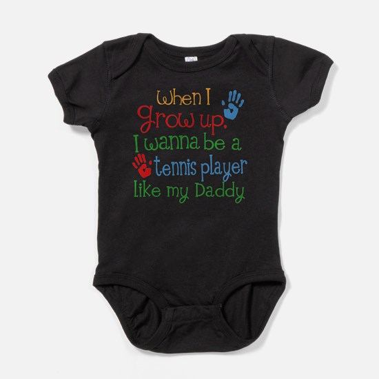 Tennis Player Like Daddy Baby Bodysuit