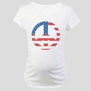 amnpeaceflag Maternity T-Shirt