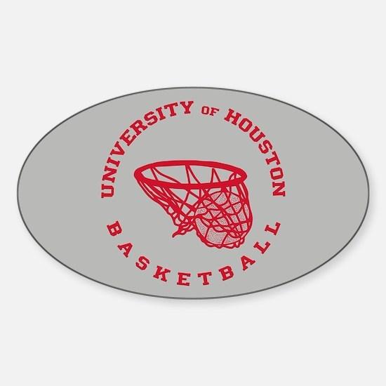 University of Houston Basketball Sticker (Oval)