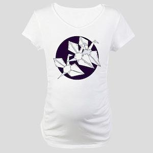 cranes Maternity T-Shirt