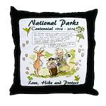 National Parks Centennial Throw Pillow