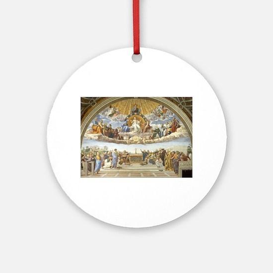 Disputa by Raphael Round Ornament
