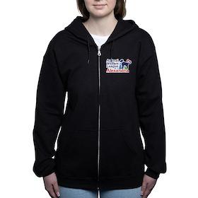 Awla Dark Women's Zip Hoodie Sweatshirt
