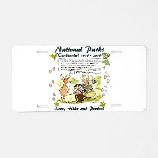 National Parks Centennial Aluminum License Plate